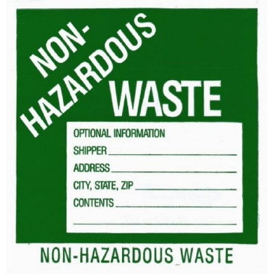 Non Hazardous Waste Drum Labels Enviro Equipment Inc