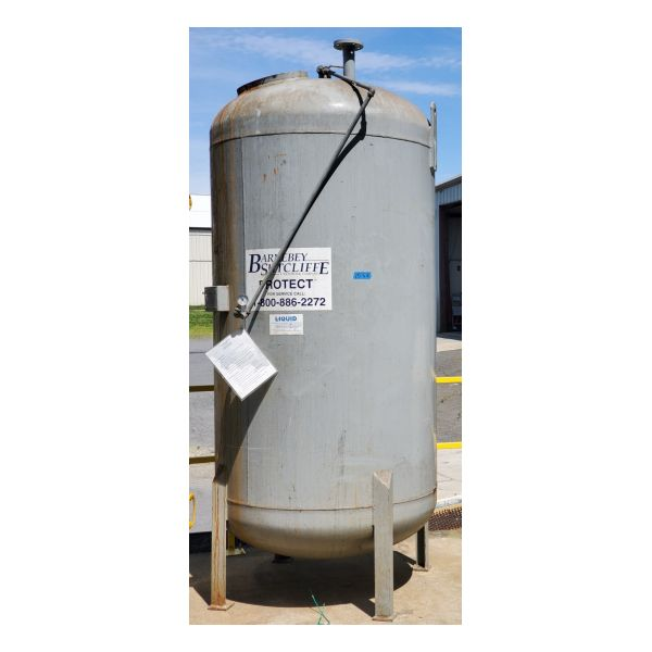 Used 2,000lb Liquid Phase Carbon Vessel Stock #1558