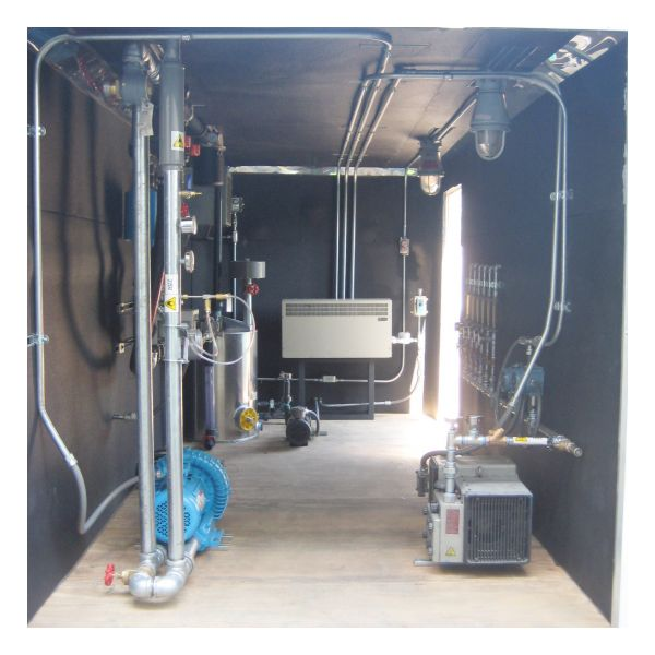 EEI-1322 Air Sparge Soil Vapor Extraction Trailer - Inside