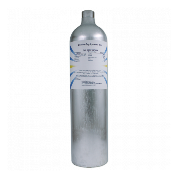 4-Gas Mixture (50% LEL CH4, 50 ppm CO, 10 ppm H2S, 18% O2)