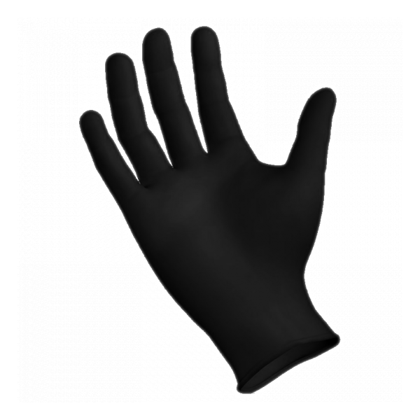 SMC Black Nitrile Powder-Free Textured Gloves