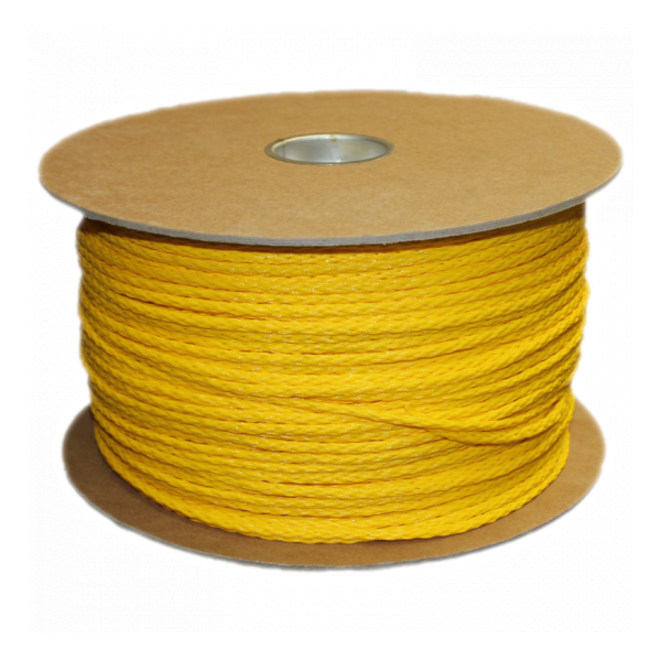 3/16 Inch Yellow Braided Polypropylene Rope, 1000 FT. roll
