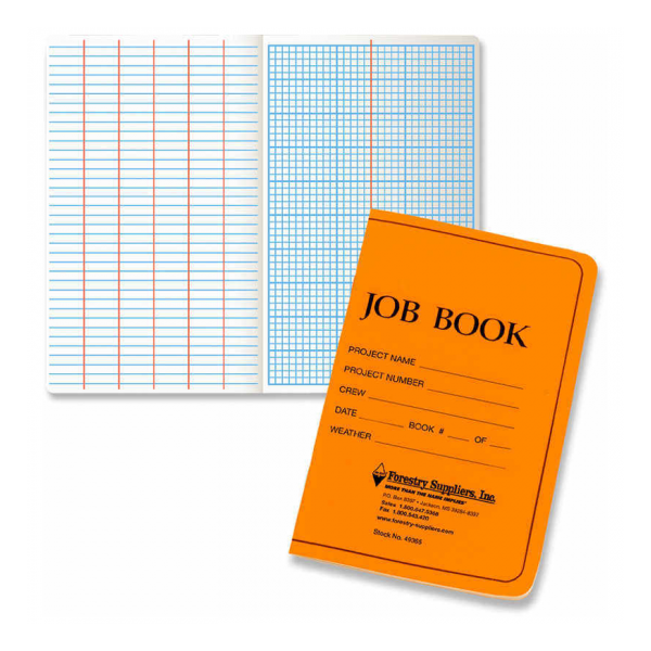 Forestry Suppliers Soft Cover Job Book